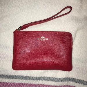 Red Coach Wristlet/Clutch